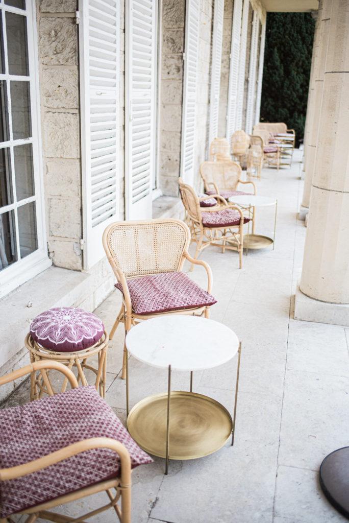Domaine du Chesney terrasse salon de jardin Christophe Lefebvre photographe