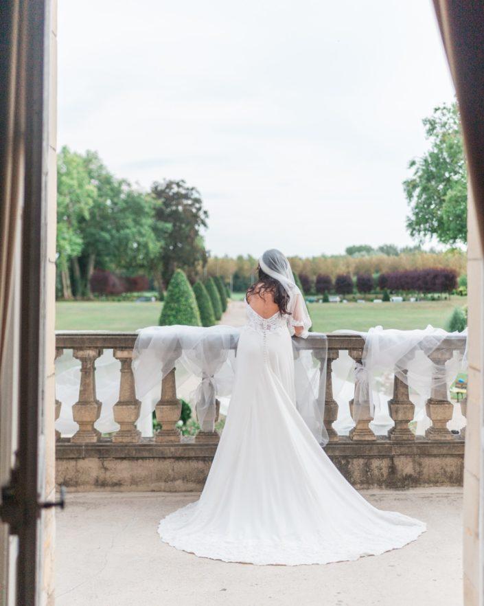 Mariage au Château d'Aveny CHrisotphe Lefebvre Photographe Balcon