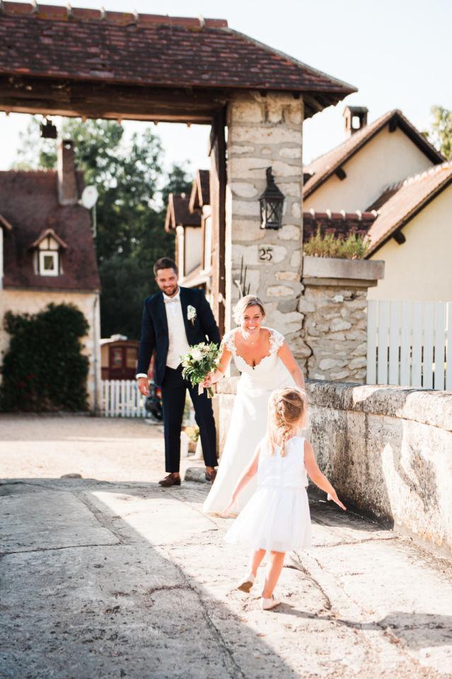 La grange des Aulnaies Photographe de mariage Christophe Lefebvre arrivée