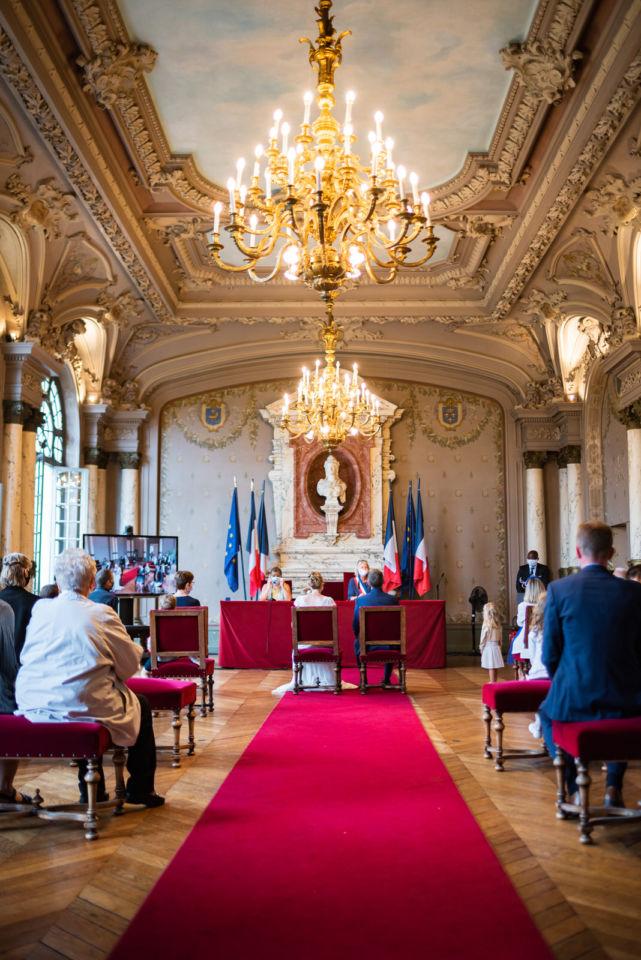Cérémonie civile Mairie de Saint Germain en Laye covid 19 coronavirus Christophe Lefebvre Photographe Mariage (5)